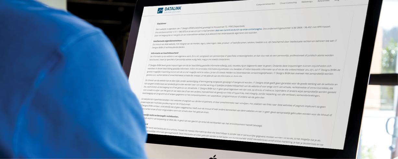Welke gegevens zijn wettelijke verplichtingen die op mijn website moeten staan?