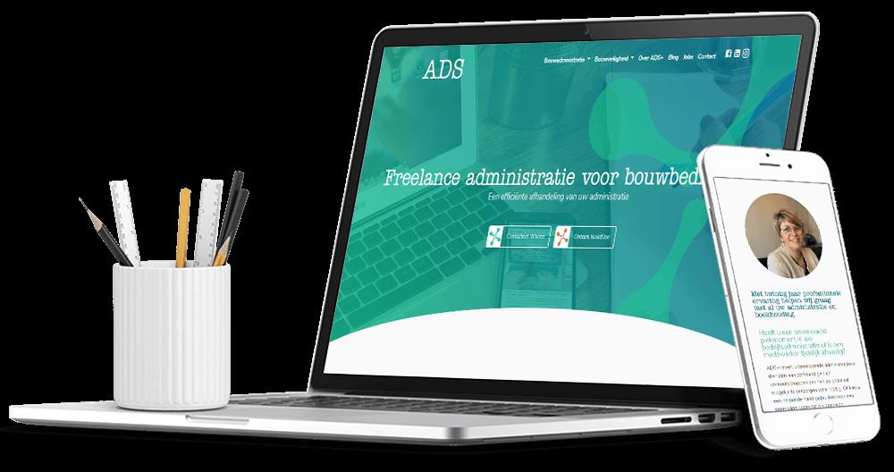 Website voor administratiekantoor bouwbedrijven