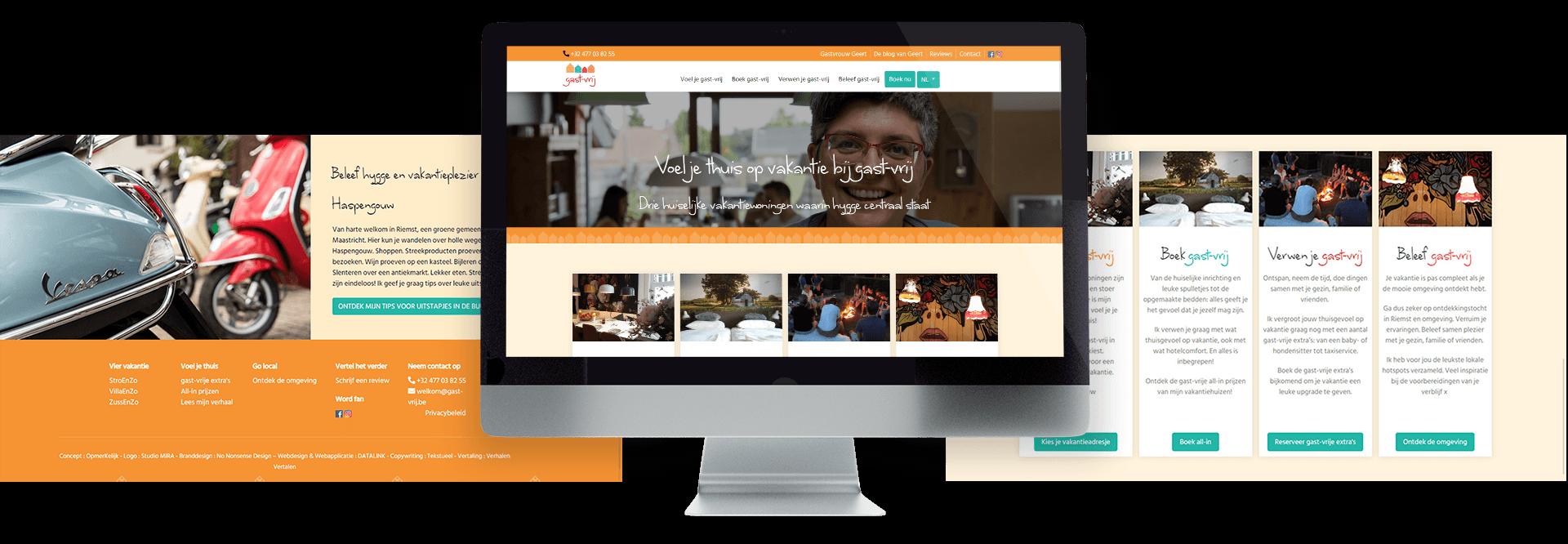 Sfeervolle website voor de Limburgse vakantiewoningen van gast-vrij