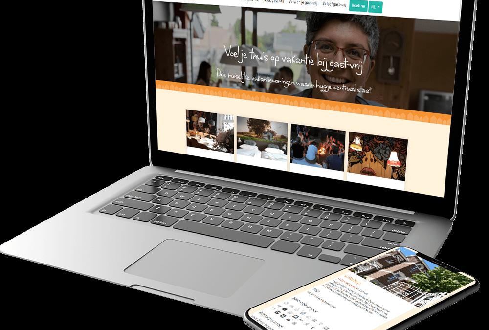 Website met custom CMS voor gast-vrij vakantiewoningen