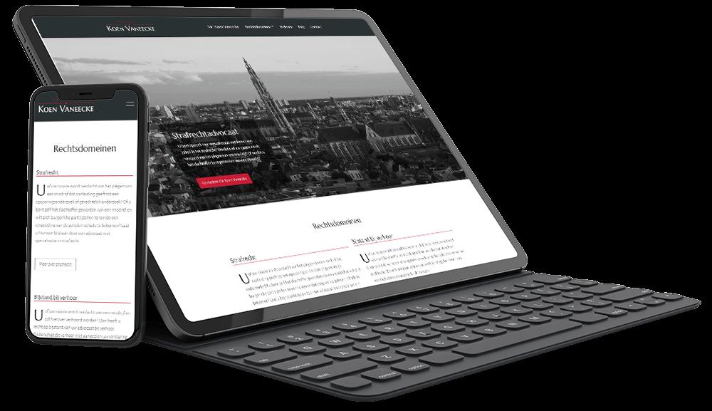 Moderne website voor advocaat strafrecht