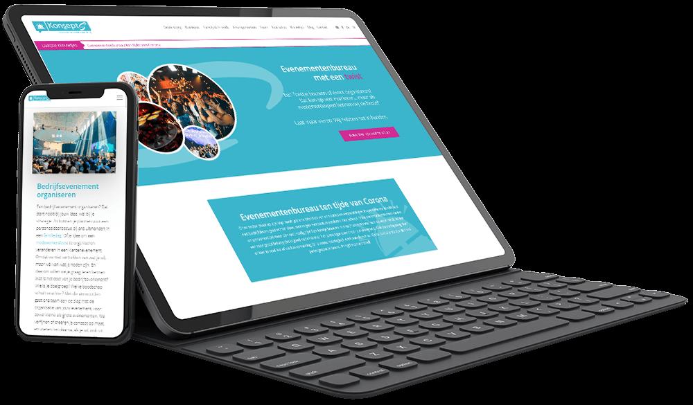 Website voor de event consultants van KonseptS