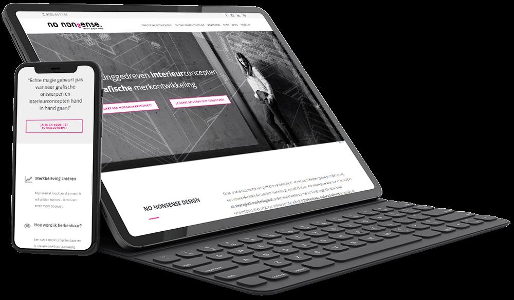 Website voor ontwerpbureau No Nonsense Design
