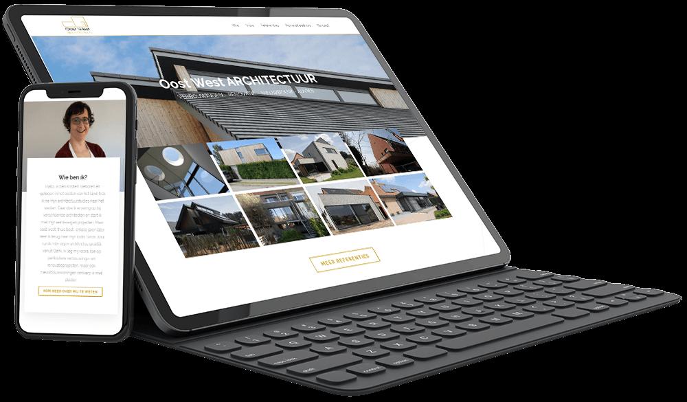 Website voor Oost West Architectuur