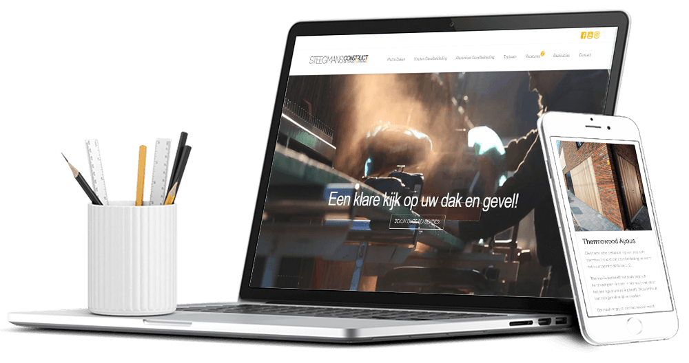 Moderne website voor bouw bedrijf Steegmans Construct