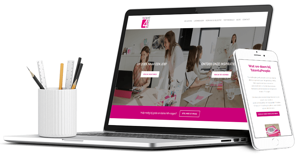Website voor Petra Rubens van Talent4People