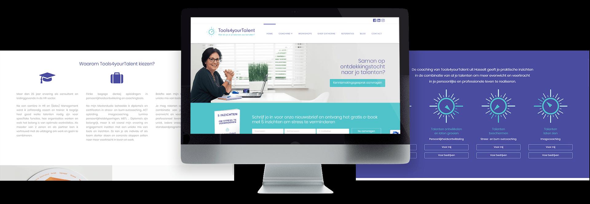 Moderne website voor loopbaancoach Catherine Hoogmartens van Tools4yourTalent