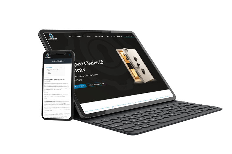 Duo-website voor Lampaert Safes & Security uit Diepenbeek