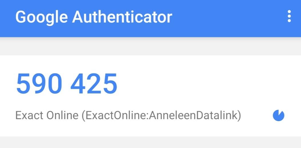 Exact Online authenticator_Blog 2fA